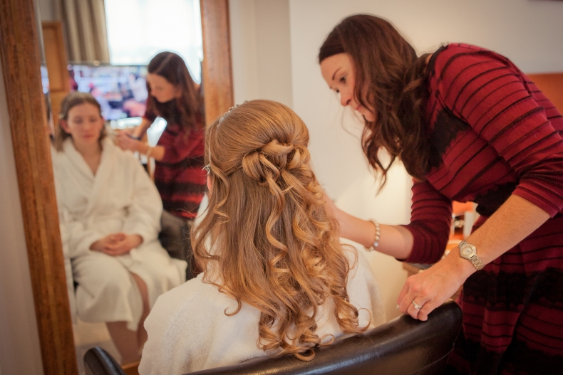 Timeless Classic Wedding Hair and Make up for Amy at the Waterhead Hotel